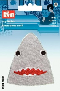 Prym Embroidered Shark Motif