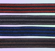 knitted Lurex Striped Tape