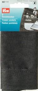 Prym Trouser Pockets Replacments - Grey