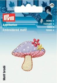 Prym Embroidered Mushroom Motif