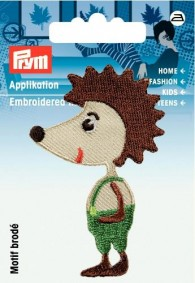 Prym Embroidered Hedgehog Motif