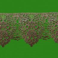 Wide Metallic Guipure Lace