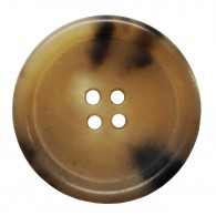 4-Hole Rimmed Horn Button