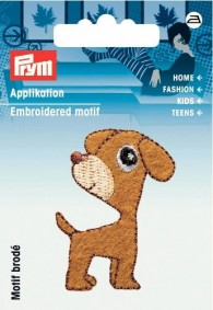 Prym Embroidered Dog Motif