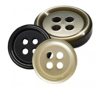 4-Hole Polyester Rimmed Butons