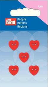 Prym 2-Hole Kids heart Buttons