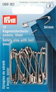 Prym Safety Pins with Ball Steel