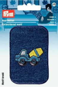 Prym Embroidered Concrete Mixer Motif