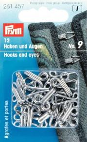 Prym Size 9 Hooks and Eyes