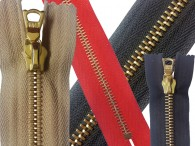 Riri Gold Teeth Open End Zips