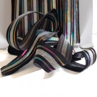 22mm Striped Shiny Elastic