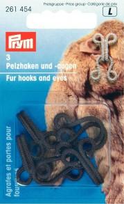 Prym Brown Fur Hook and Eyes