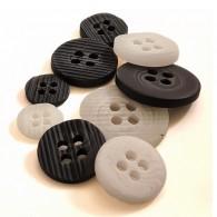 4-Hole EngravedLines Button