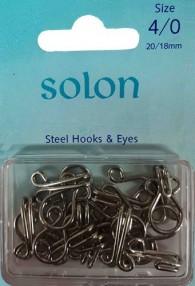Steel Hooks & Eyes Size 4/0