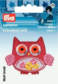 Prym Embroidered Owl Motif