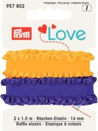 Prym Ruffle Elastic 2x1of 16mm