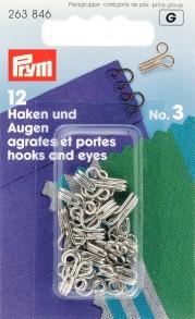 Prym Size 3 Hooks and Eyes