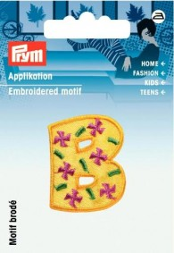Prym Embroidered Letter 'B' Motif