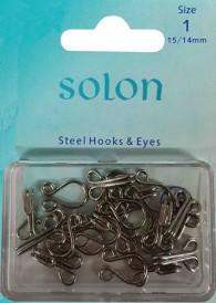Steel Hooks & Eyes Size 1/0