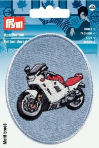 Prym Embroidered Denim Motor Bike Motif