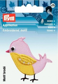 Prym Embroidered Bird Motif
