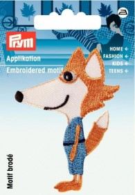 Prym Embroidered Fox Motif