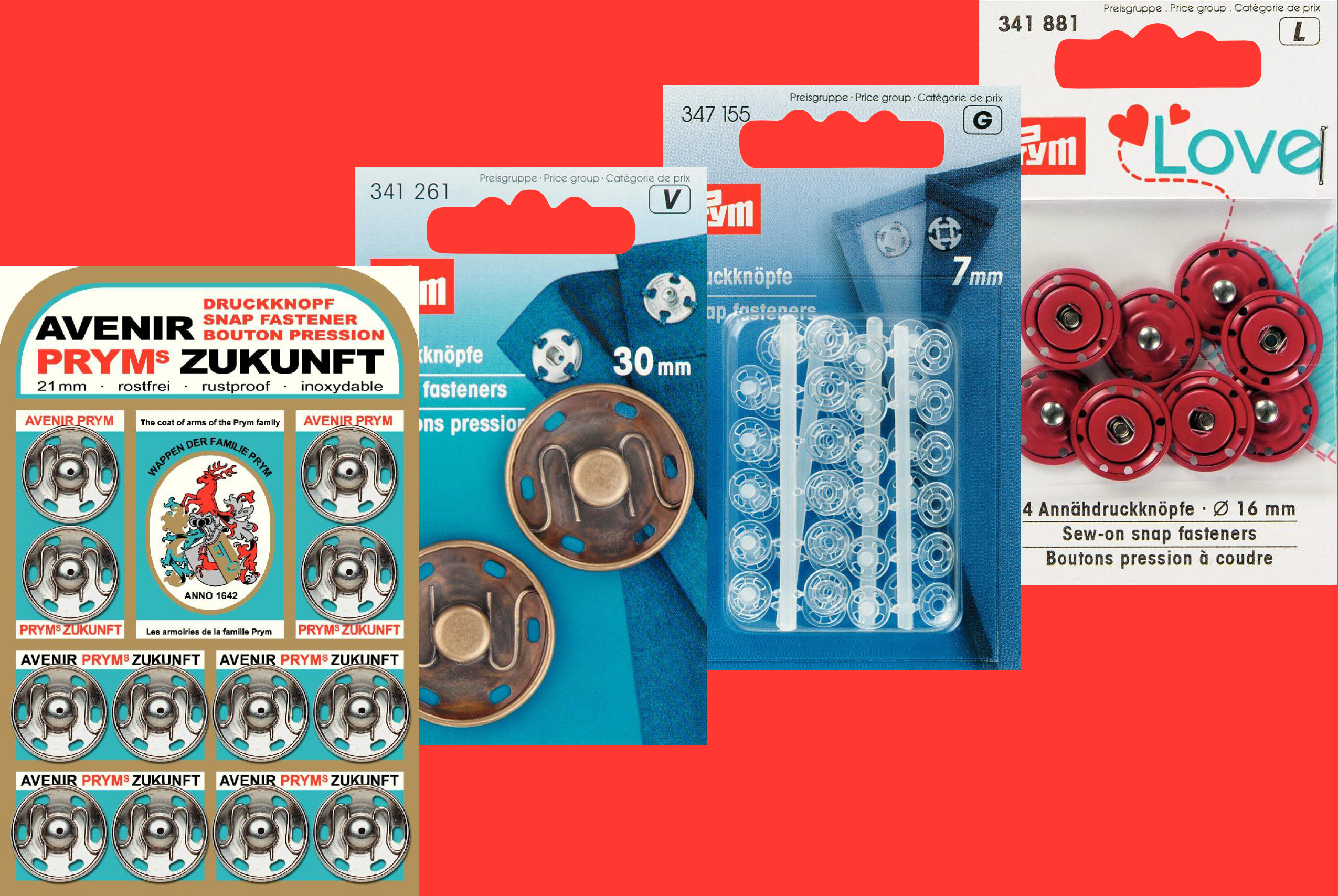 Snap Fasteners (Sew-On)